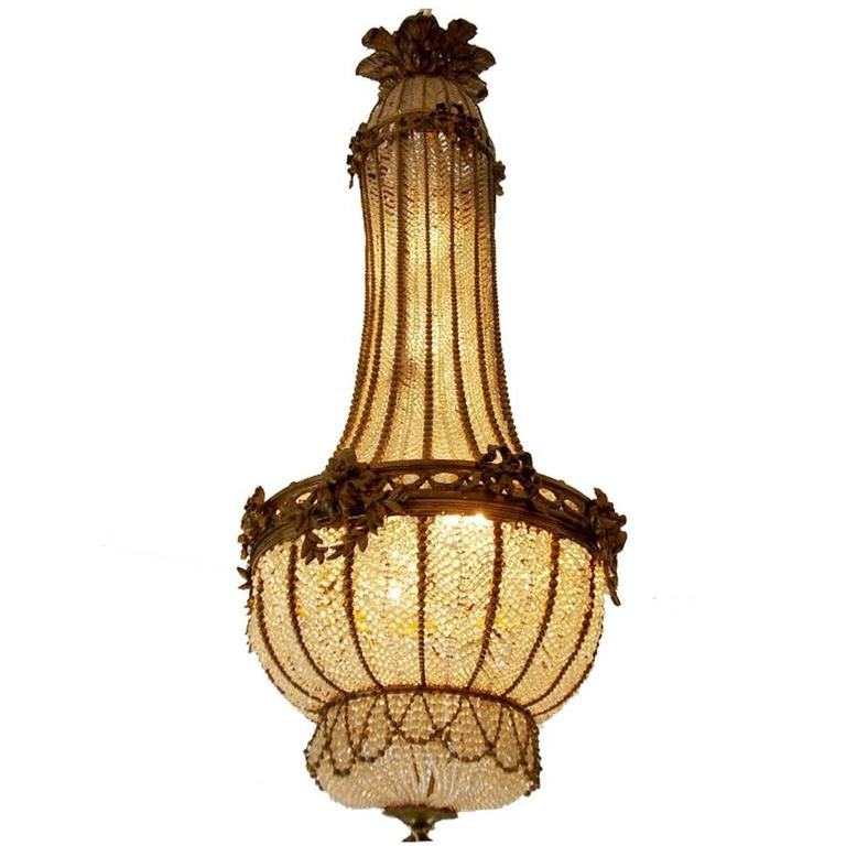 French Louis Xvi Style Ormolu And Crystal Chandelier 19th