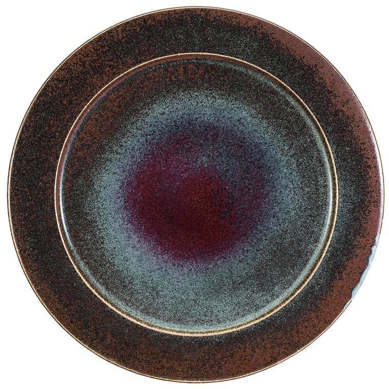 Scandinavian Modern Ceramic Charger by Stig Lindberg for Gustavsberg, 1981