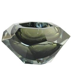Large Crystal 1950 Fontana Arte Ashtray