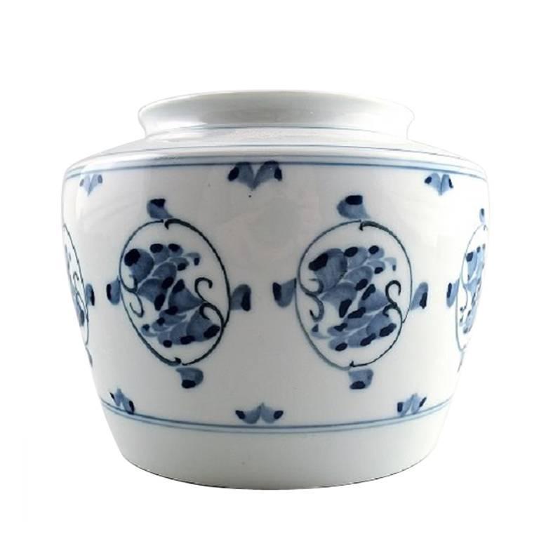 B&G Bing & Grondahl Porcelain Vase with Flowers, 1930s For Sale
