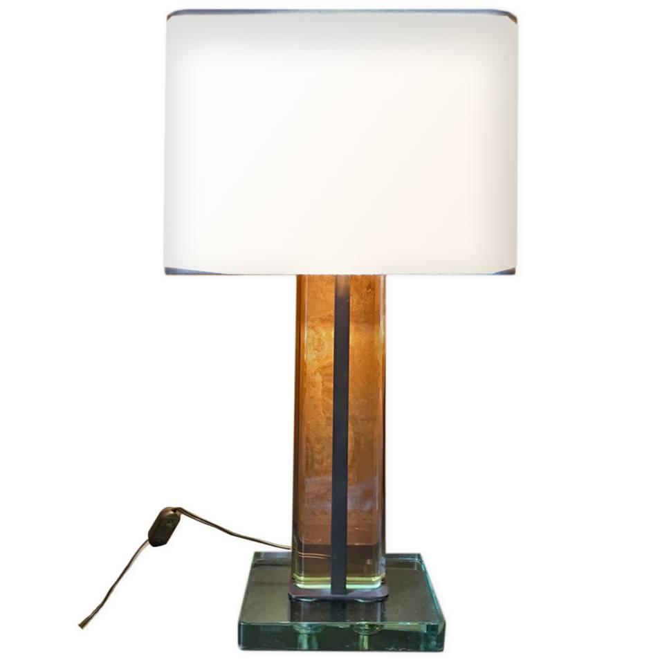 Table Lamp Design Fountain Art Pietro Chiesa 1940 For