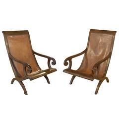 Pair of French Campeche Style Chairs