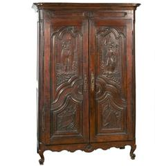 18th Century Spanish Provincial Armoire