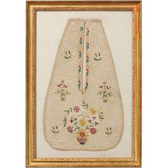 Rare Early 18th Century Embroidered Lady's Pocket