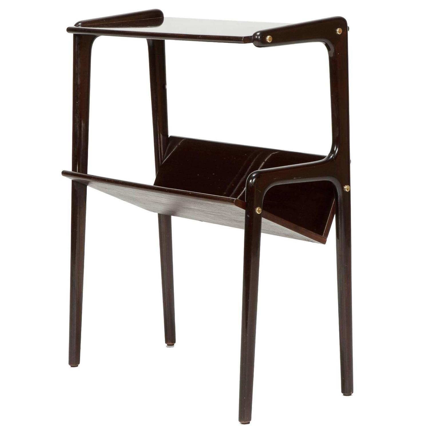 Wonderful image of Italian Bed Side Table Magazine Rack Mahogany Attributed to Ico Parisi  with #2F1E18 color and 1500x1500 pixels
