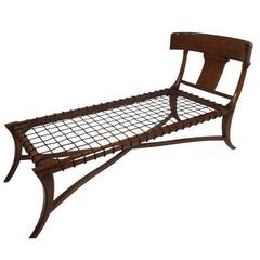Vitruvius Klismos Chaise Longue after Robsjohn-Gibbings