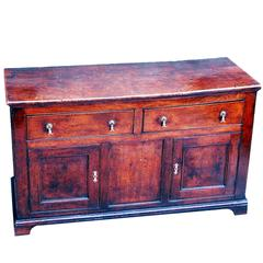 Antique 18th Century Elm Cupboard Dresser