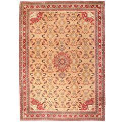 Antique 19th Century Oversize Indian Agra Carpet