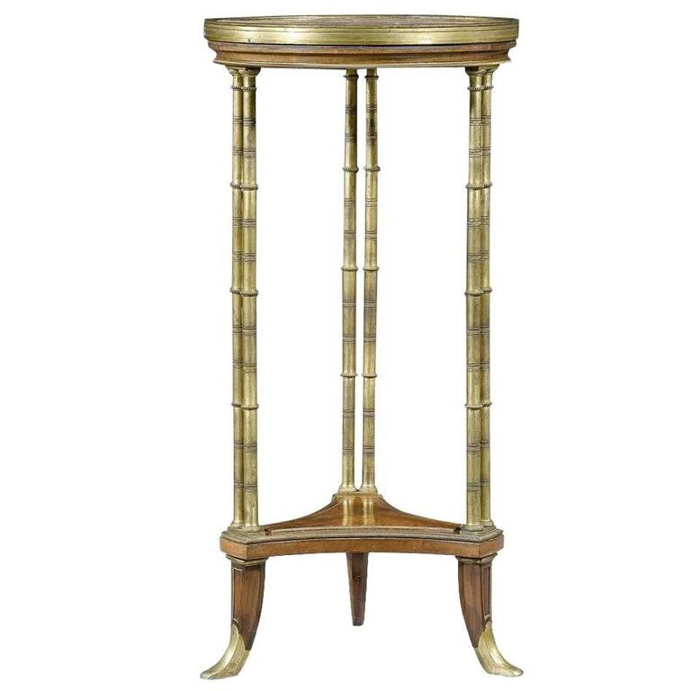 Louis XVI Style Round Side Table by Henry Dasson