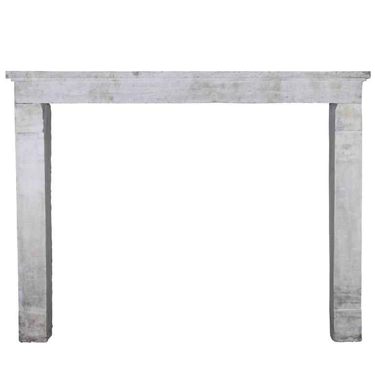 Nice 17th Century French Country Limestone Antique Fireplace Mantel