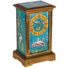 Cloisonne Enamel and Ormolu Mantel Clock