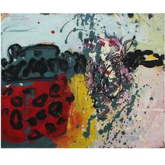 Abstract oil painting by Alan Davie from 1961