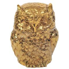 Gilded Owl Ice Bucket by Mauro Manetti