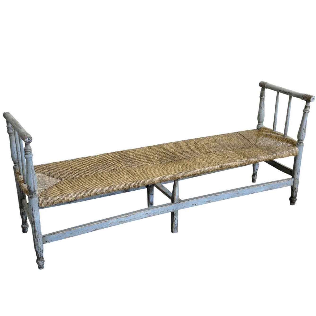 Country French Early 19th Century Bench In Painted Wood At