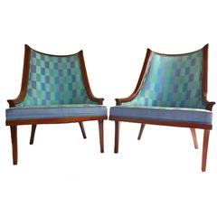 Mid-Century Modern Side Arm Lounge Chairs