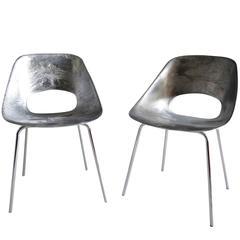 Rare Guariche Chair with Chrome Base