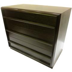 1950s American Modern Ebonized Mahogany Small Dresser by Robsjohn-Gibbings