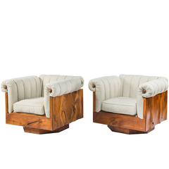 Pair of Unique Philip Lloyd Powell Lounge Chairs