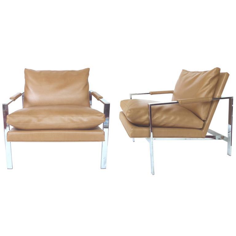 Astonishing 1960S Milo Baughman Chrome Lounge Chairs A Pair At 1Stdibs Theyellowbook Wood Chair Design Ideas Theyellowbookinfo