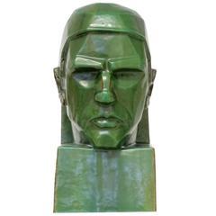 Art Deco Sculpture 'Thinking' ('Het Denken') by Willem Coenraad Brouwer
