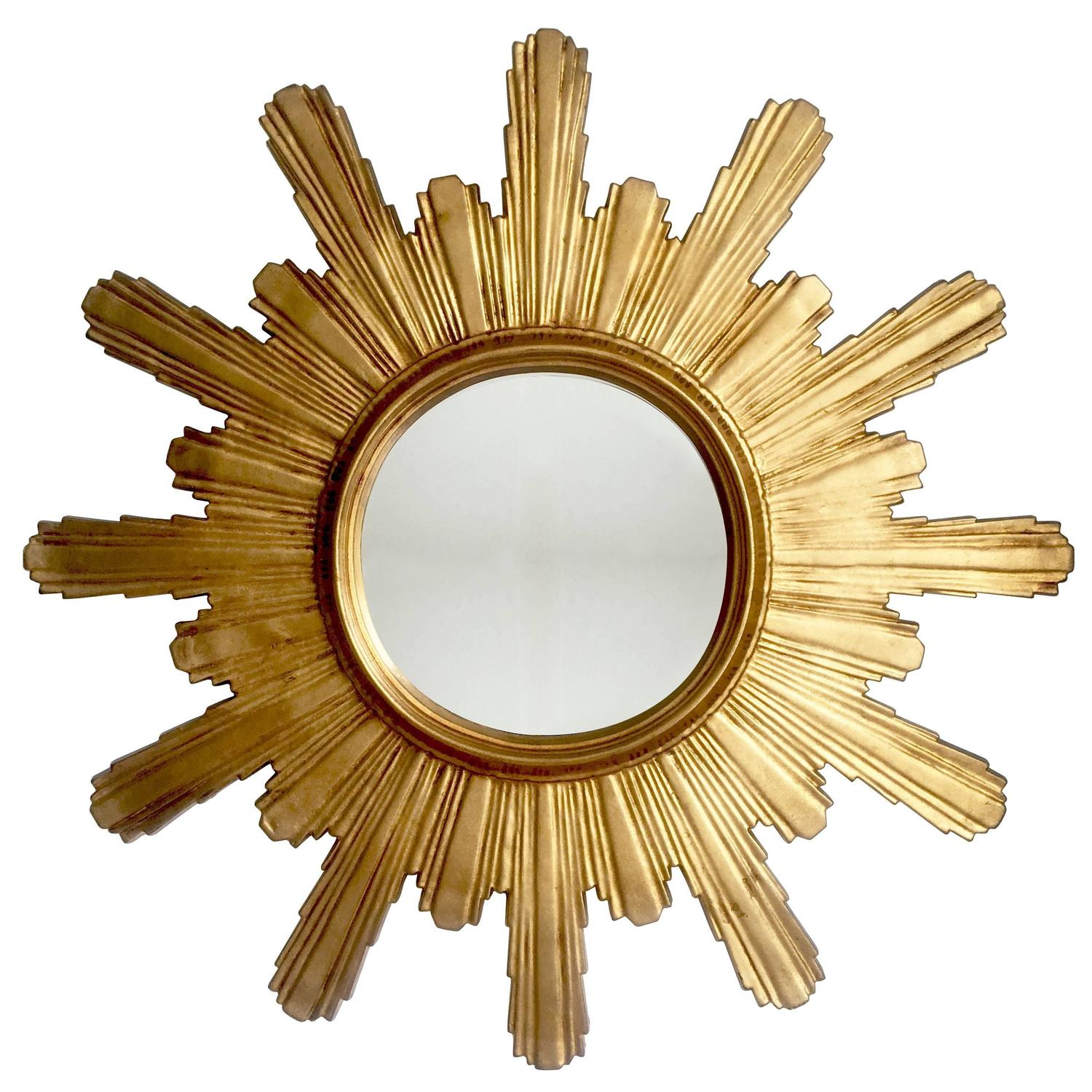 Extra large carved wooden brutalist sunburst or starburst Large wooden mirrors for sale