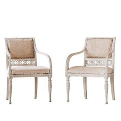 Pair of Late Gustavian Armchairs