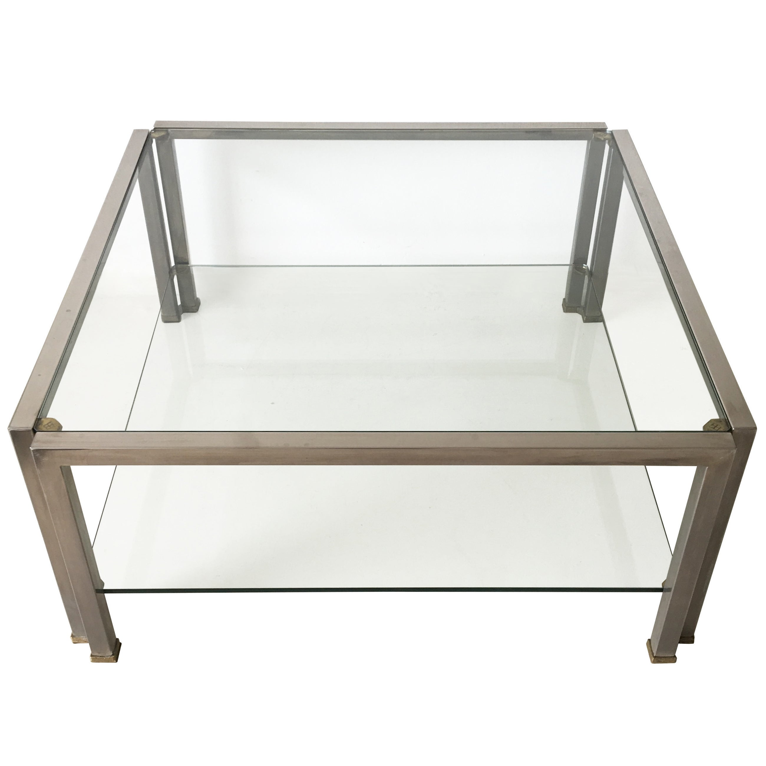 Hollywood Regency Glass Coffee Table T28D by Peter Ghyczy, 1986