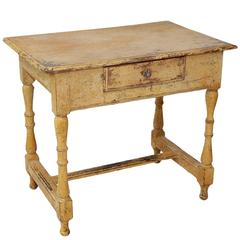 Early 18th Century French Painted Oak Side Table, circa 1720