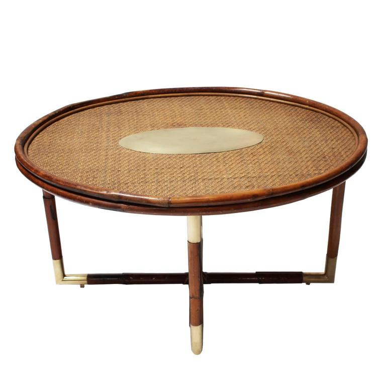 bamboo coffee table in the style of gabriella crespi at 1std