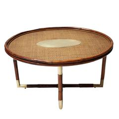 Bamboo Coffee Table in the Style of Gabriella Crespi