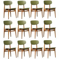 Set of 12 Ico Parisi Model 691 Dining Chairs