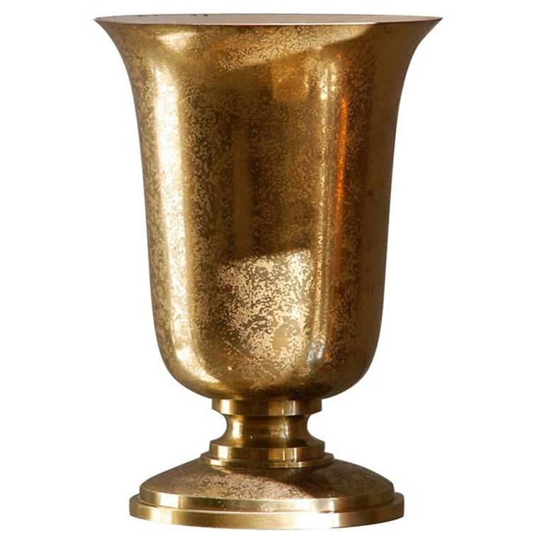 Gilt Bronze French Art Deco Urn Lamp by Genet & Michon 1