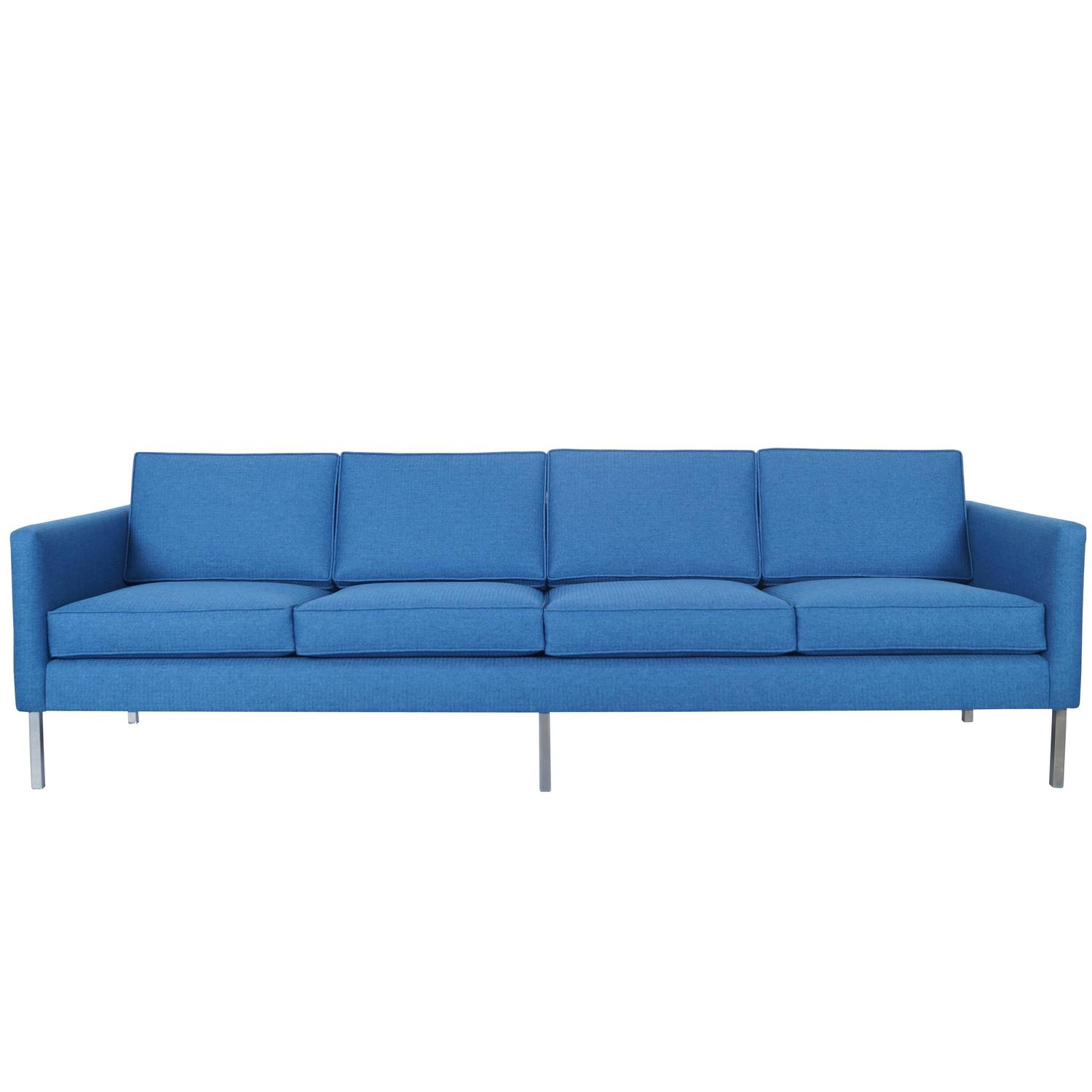 Mid century modern chrome sofa at 1stdibs for Mid century modern sofas