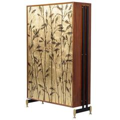 Antonio Ferretti Italian Illustrated Gold Leaf Armoire