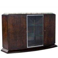 French Art Deco Marble-Top Sideboard