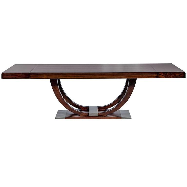 french art deco rosewood dining table circa 1940 1 art deco rosewood dining
