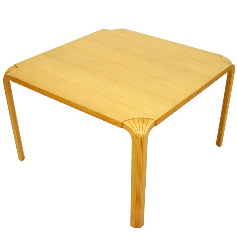 Alvar Aalto Fan Leg Coffee Table In Birch At 1stdibs