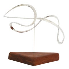 Russell Secrest Sterling Kinetic Sculpture Signed 1970's USA