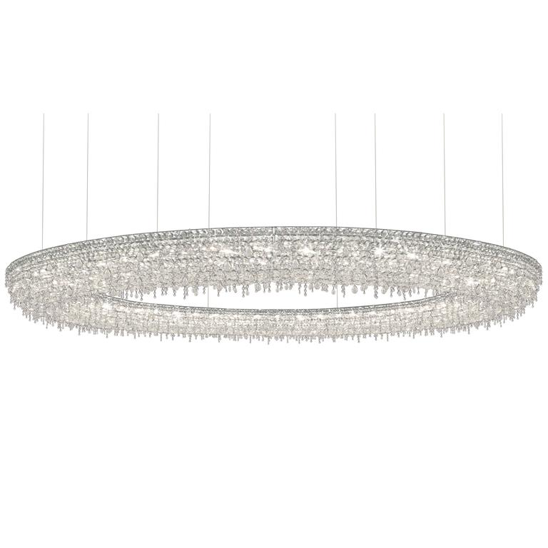Lolli E Memmoli Ugolino Modern Crystal Halo Light Fixture - Halo light fixtures