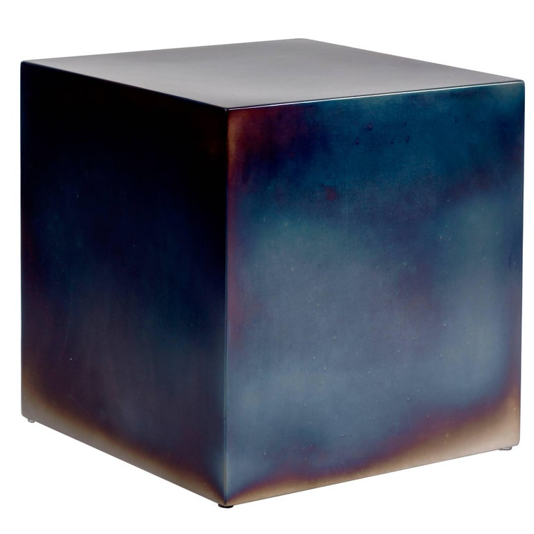 Contemporary Tempered Steel Cube by Sabine Marcelis For Sale