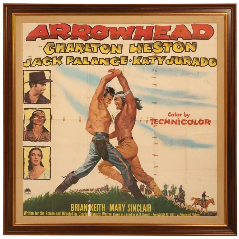 Movie Poster Of Arrowhead Staring Charlton Heston Circa