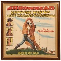 Movie Poster of Arrowhead Staring Charlton Heston, circa 1953