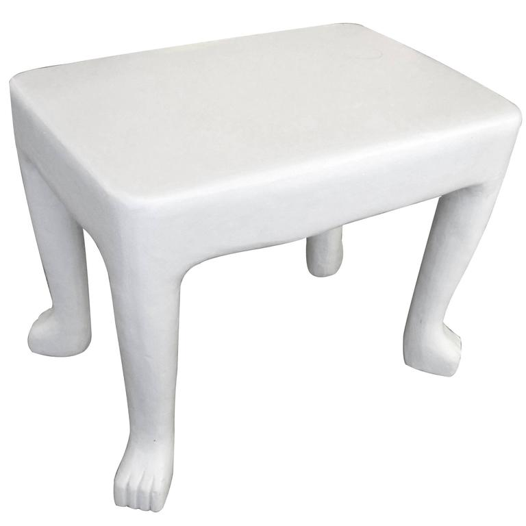 Original American, 1970s John Dickinson African-Series Plaster Occasional Table