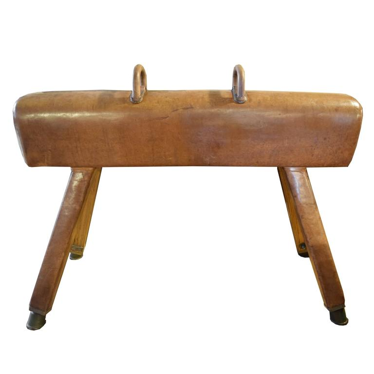 Wood And Leather Pommel Horse At 1stdibs
