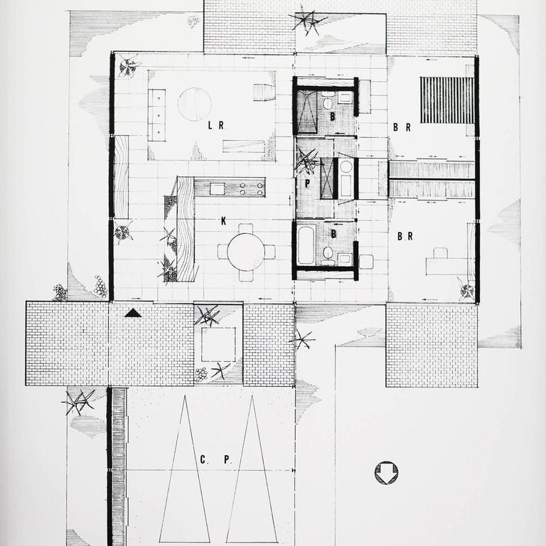 pierre koenig floor plan of case study house 21 framed