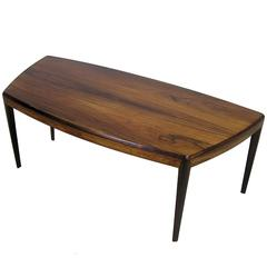 1960s Brazilian Rosewood Coffee Table by Kai Kristiansen, Denmark