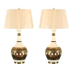 Dazzling Restored Pair of Vintage Lamps by Fortune Lamp Company