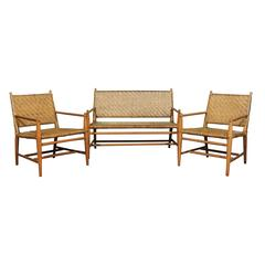 Exceptional Modern Seating Set by Russel Wright for Old Hickory, circa 1940