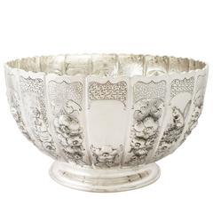 Antique Victorian Sterling Silver Presentation Bowl/Centerpiece