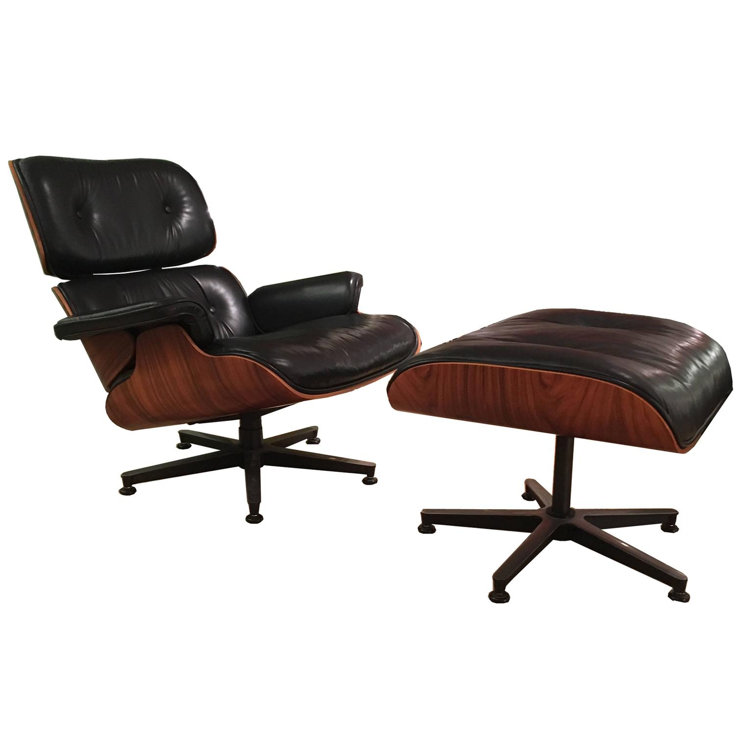Lounge Chair and Ottoman by Charles Eames For Sale at 1stdibs